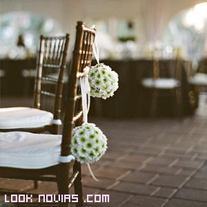 decoración romántica de bodas