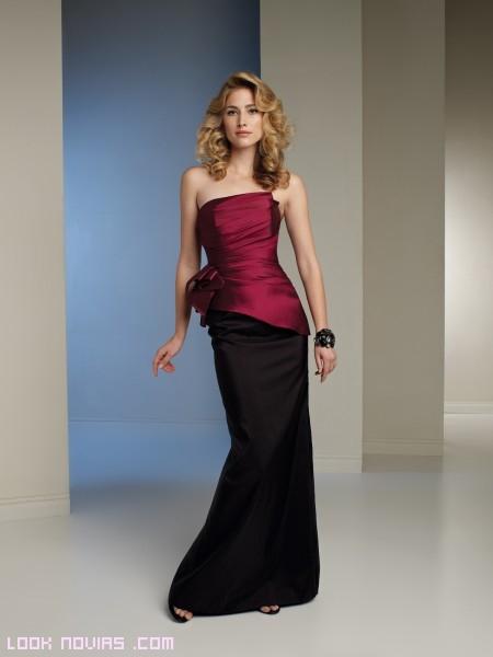 vestido bicolor para invitadas