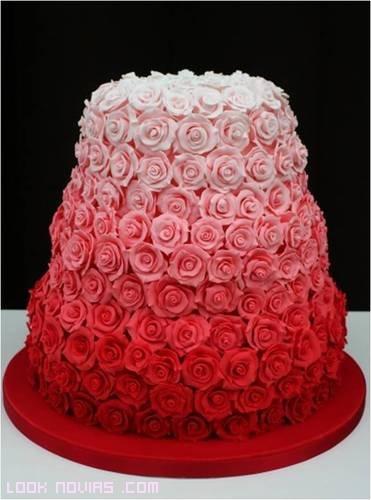 rosas para tartas de boda