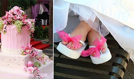 tartas de boda en color rosa