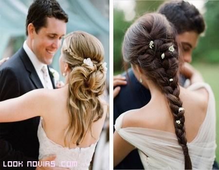 Trenzas románticas para novias