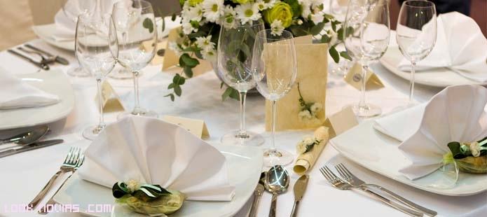 mesas elegantes en bodas