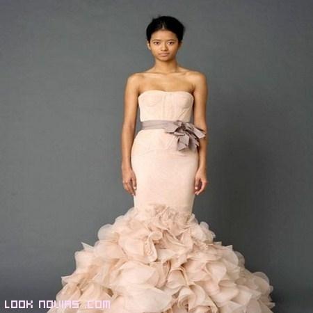 vestido de novia rosa 2012