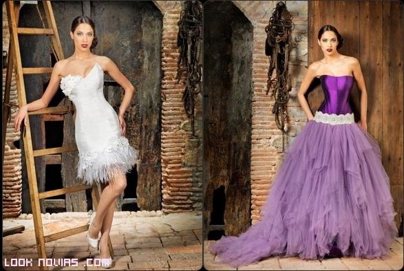 novias en color malva
