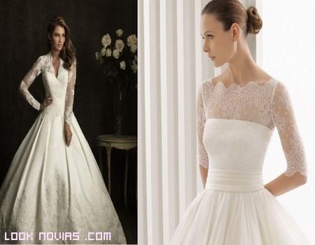 vestidos de novias con mangas