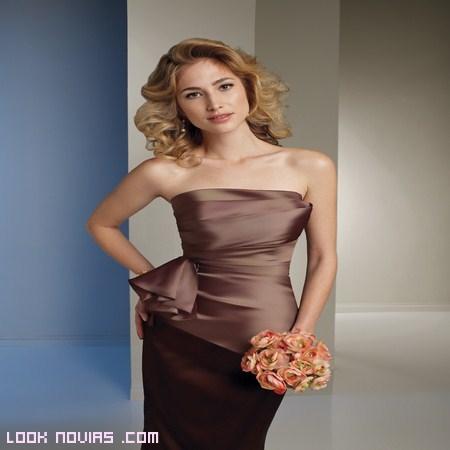 vestidos marrones para bodas de día