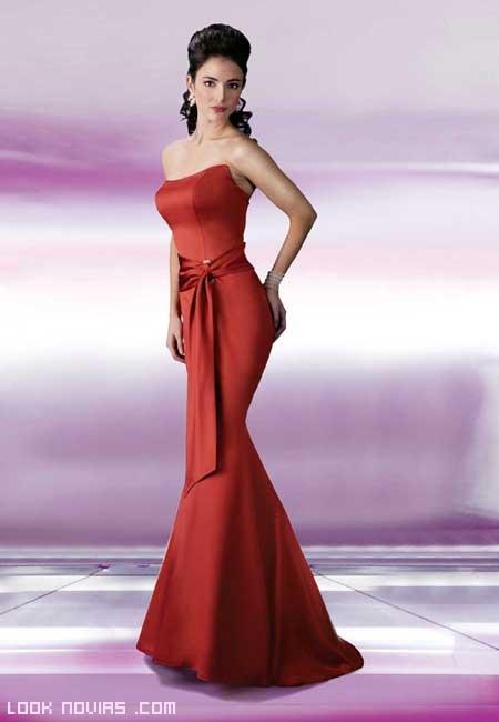 vestidos sencillos para damas de honor