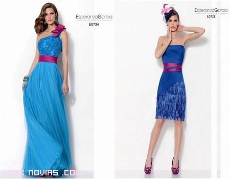 vestidos para bodas en azul