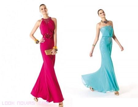 vestidos largos de gasa