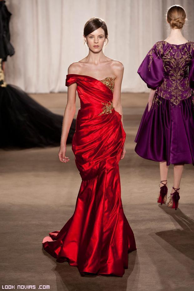 vestidos drapeados en color rojos