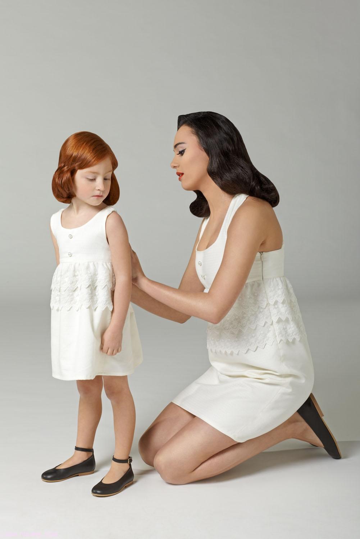 Vestidos blancos cortos para niñas