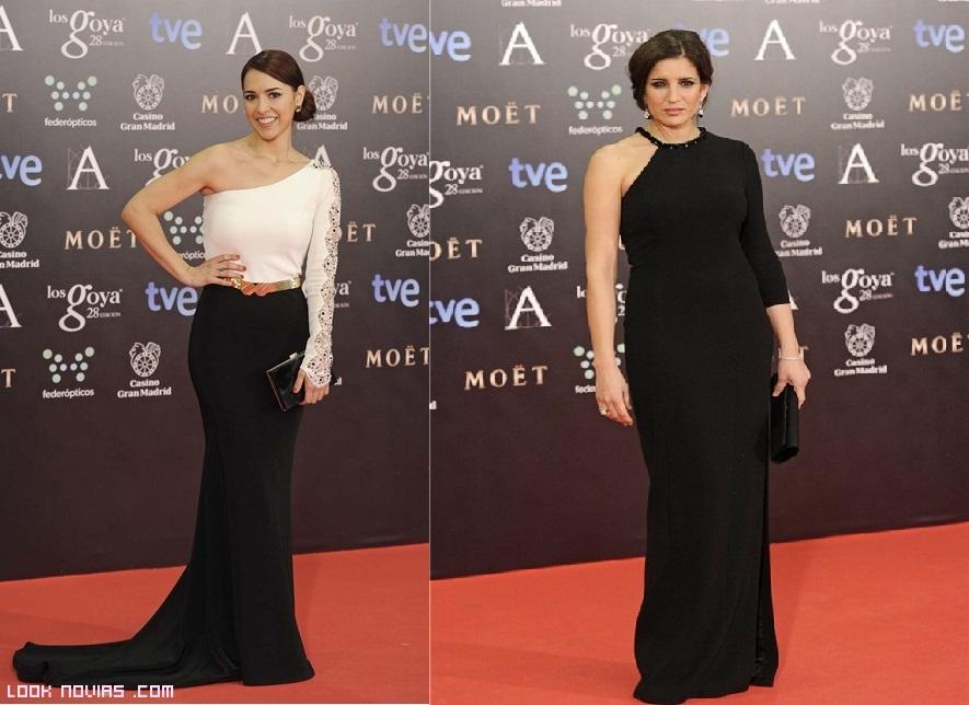 Vestidos combinados en blanco y negro