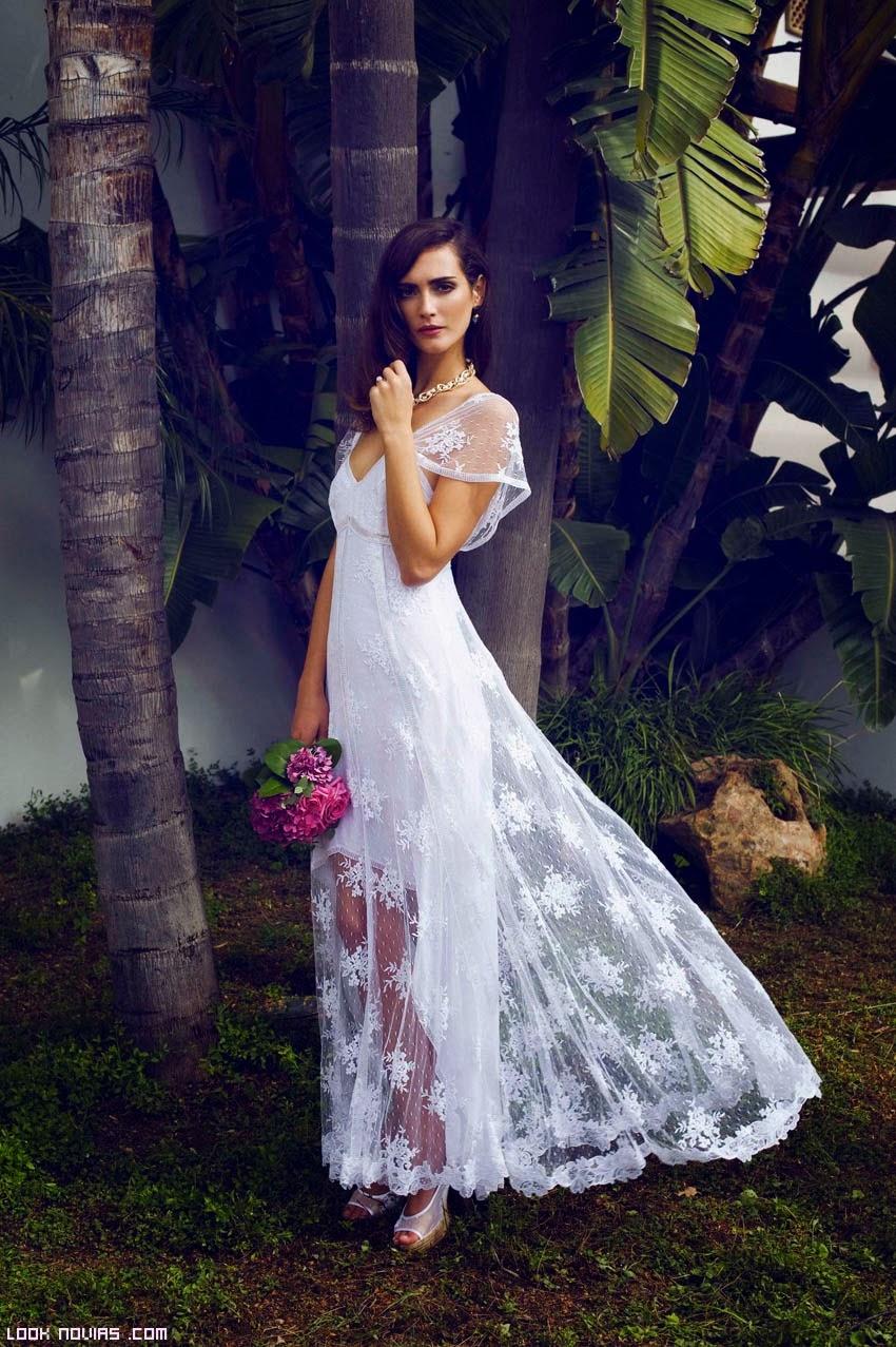 Vestidos cortos novias elegantes