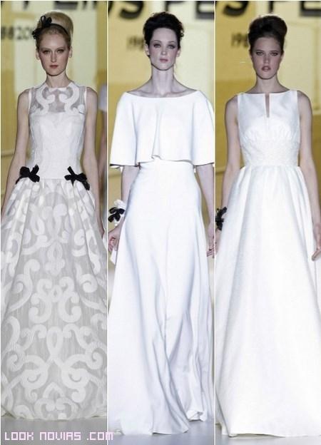 Vestidos blancos con lazos negros