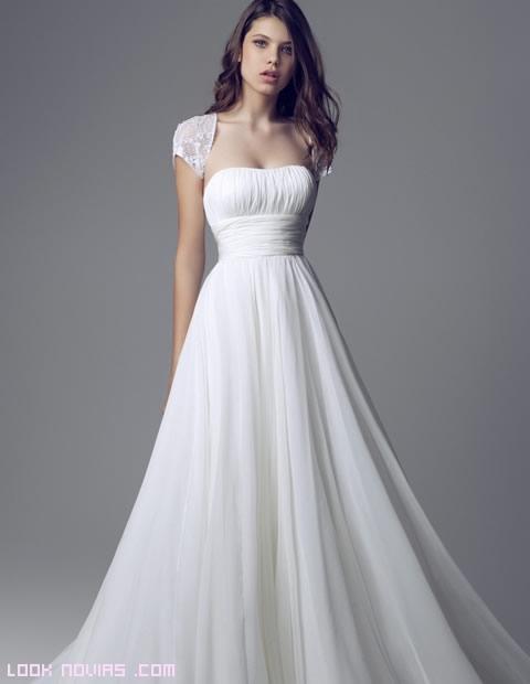 faldas lisas para novias