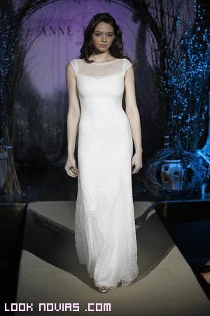 vestidos rectos de novia