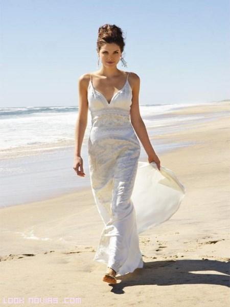 vestidos playeros de novia