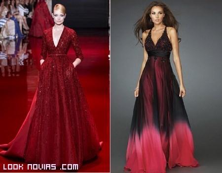 vestidos para invitadas en color rojo