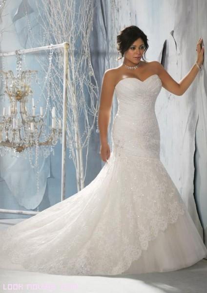 vestidos de novia con escote palabra de honor