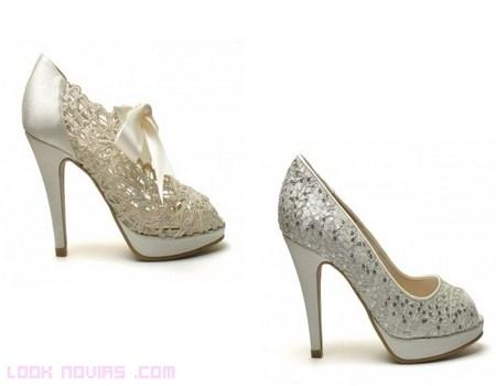 zapatos en marfil para novias