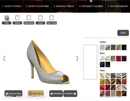 Zapatos personalizados de colores