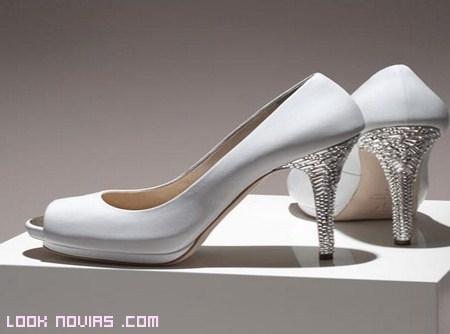 Zapatos de novia con cristales Swarovski
