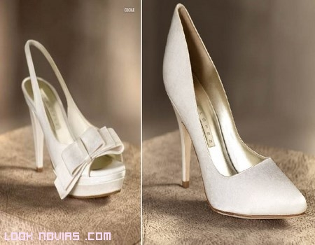 zapatos blancos para novias modernas