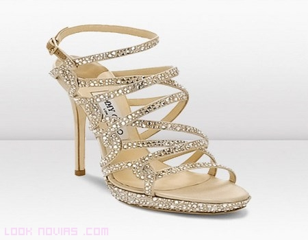 zapatos con brillantes