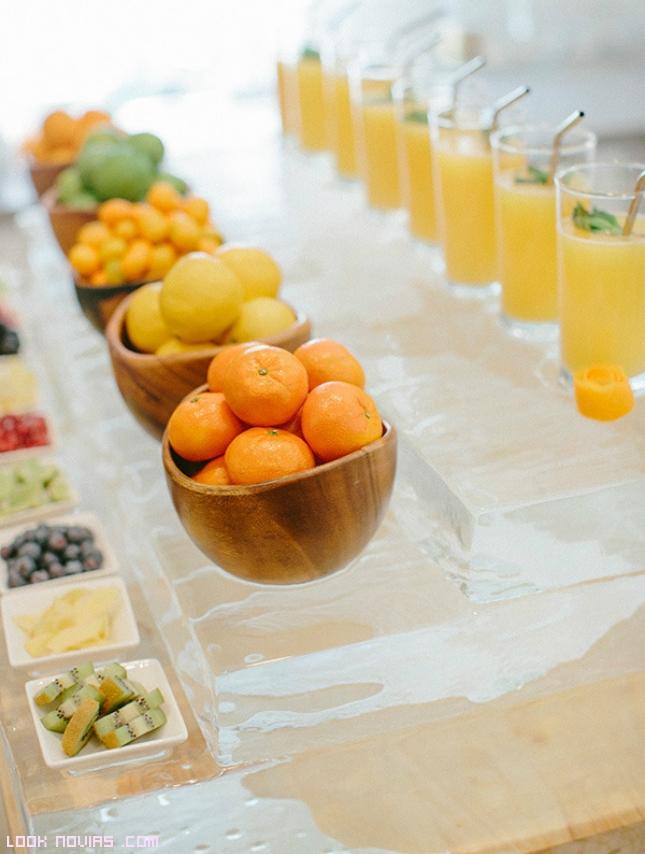 zumos naturales para banquetes