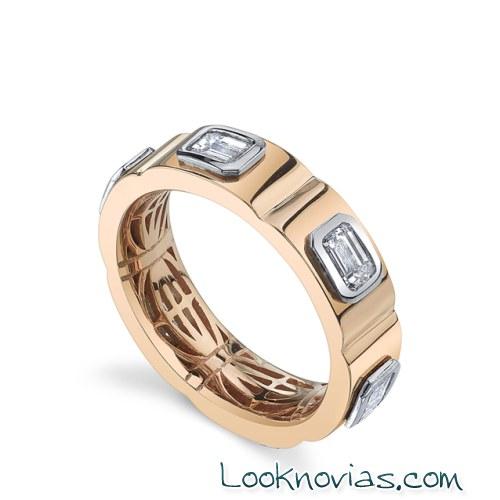 anillos combinados de michael b
