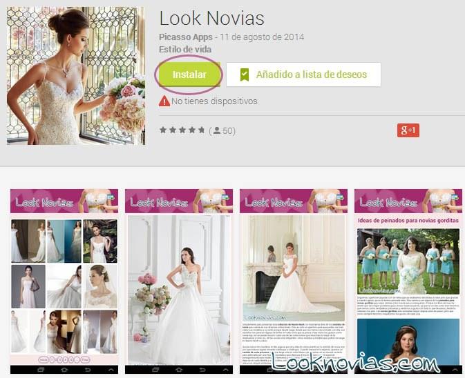 aplicacion vestidos de novia