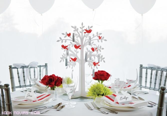 mesas de boda con decoración moderna