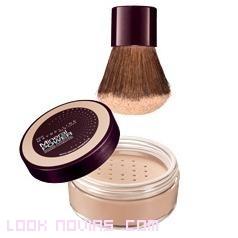 maquillaje en polvo con brocha