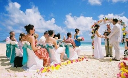 ceremonias al lado del mar