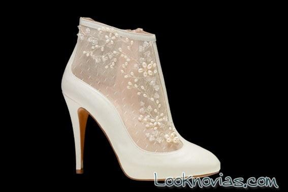 botines para novia con encajes