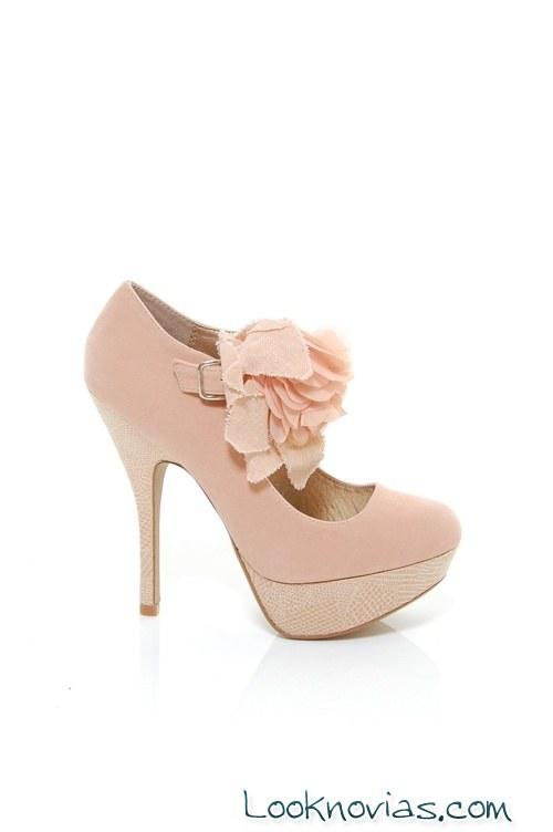botines rosa para novias