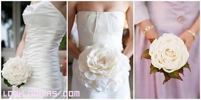 una flor como ramo de novia