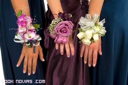 ramilletes de pulsera para bodas