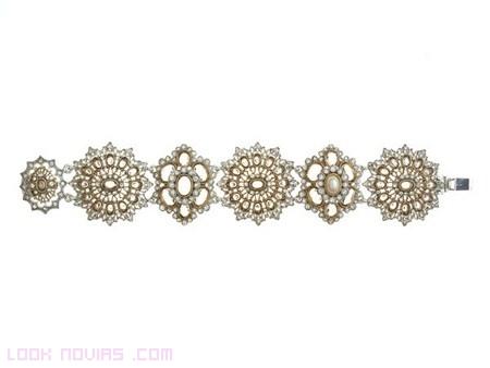brazaletes en oro y platino