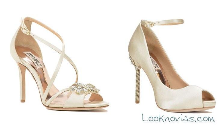 colección 2017 zapatos de novia mischka