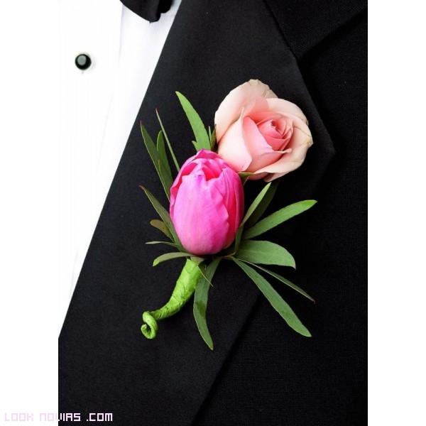 flores de colores para trajes de novio