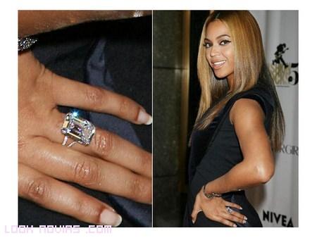 diamantes y oro blanco anillo beyonce