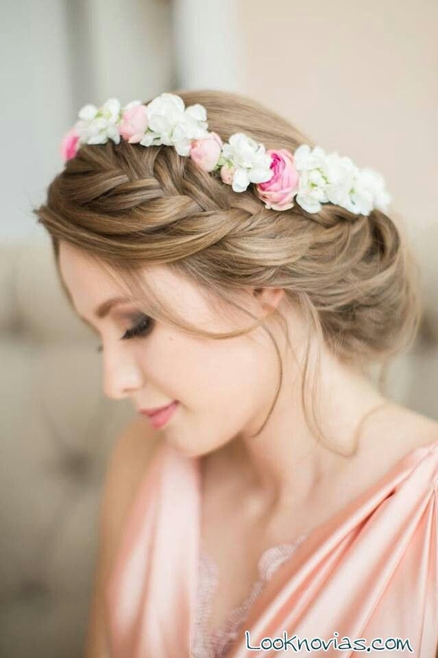 corona para novia con trenzas