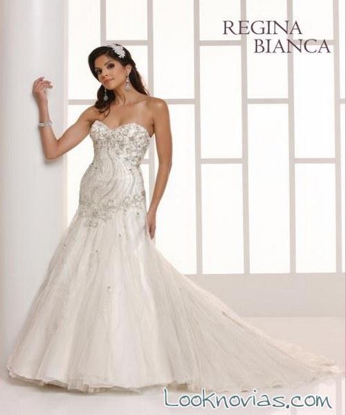 corpiño de novia en vestido sirena