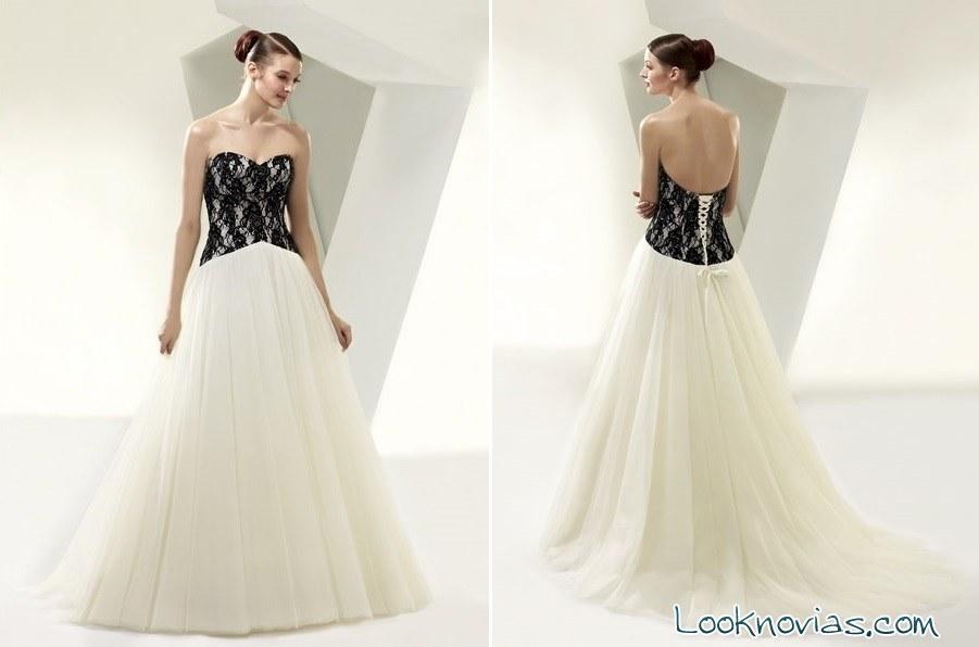 corpiño en negro para el vestido de novia