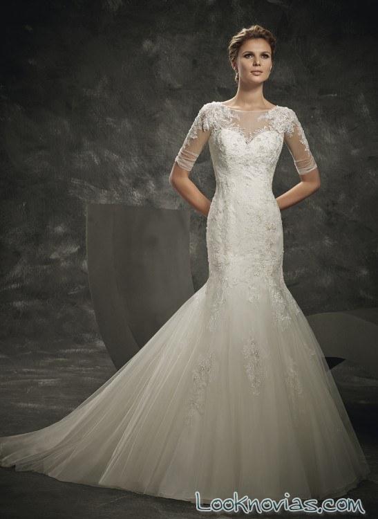 corte sirena en vestidos de novia