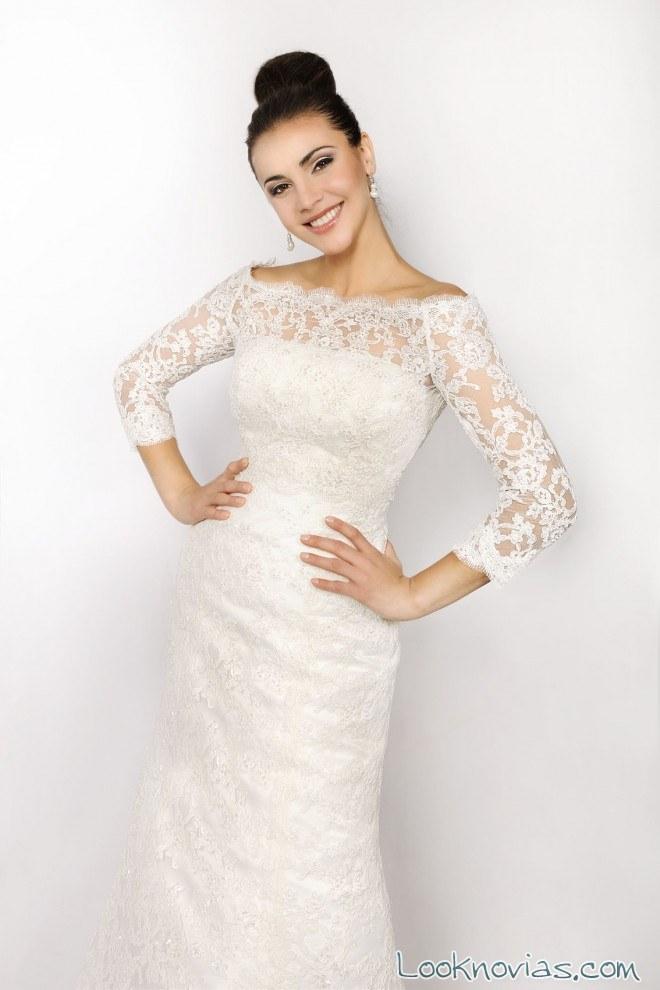 cuerpo superior de novia con encajes
