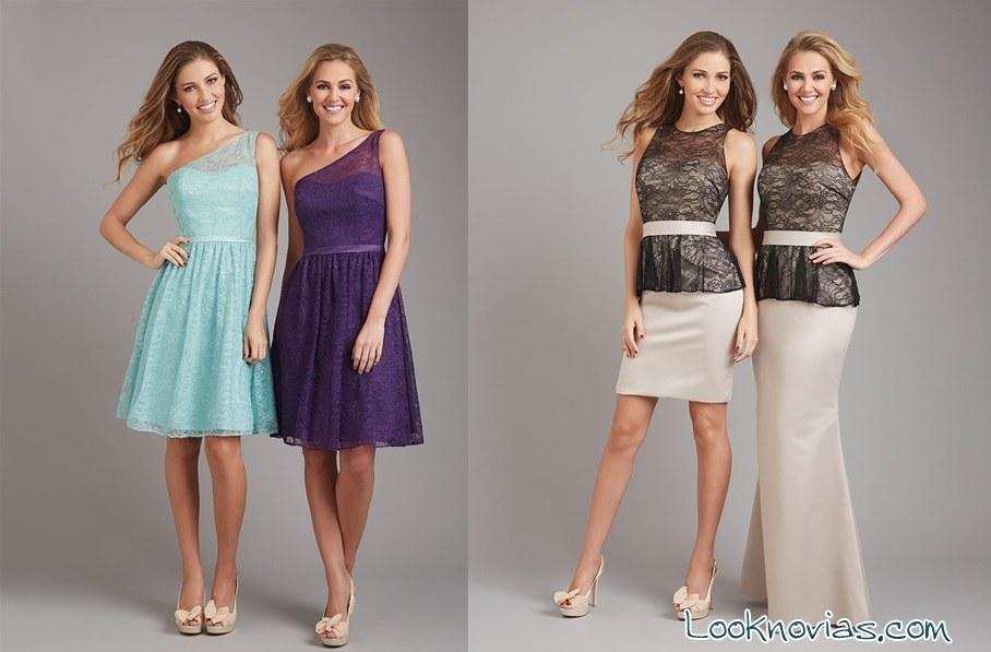 damas con vestidos de encaje