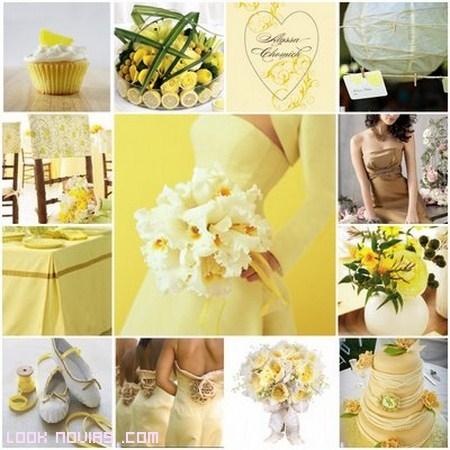 Color amarillo para bodas de moda