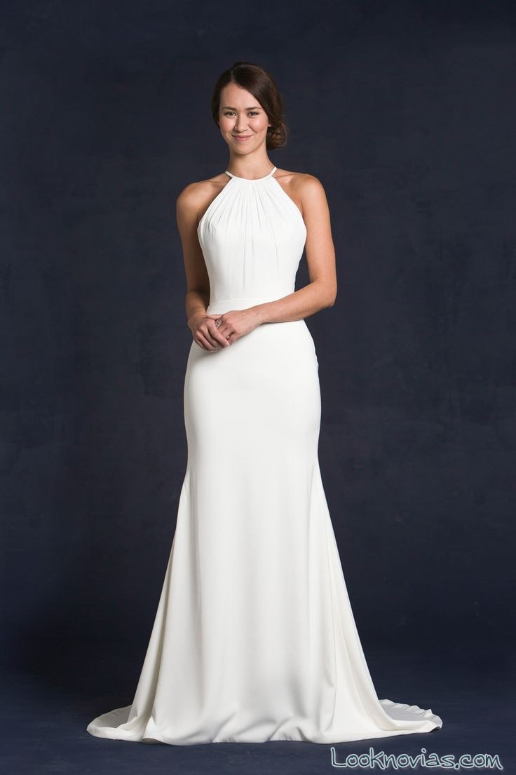 escote alto para vestidos de novia